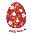 Easter egg from flowers with a text vector