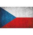 Flag of czech vector