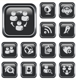 Social network buttons vector