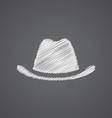 Hat sketch logo doodle icon vector