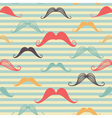 Mustache seamless pattern in vintage style pattern vector