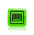 Barcode icon vector