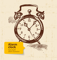 Vintage alarm clock vector