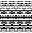 Striped ethnic pattern in black and white vector