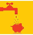 Collect money in piggy bank concept stock vector