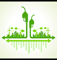 Ecology concept with eco pump vector