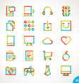 Highlighter line icons set 10 vector