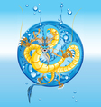 Chinese water dragon new year vector