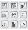 Car part and service icons set 6 vector