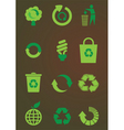 Recycling icons set vector