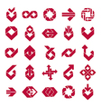 Abstract creative business icons collection vector