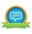 Gold talk logo vector