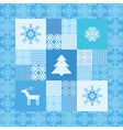 Decorative seamless patchwork background christmas vector