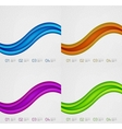 Flowing lines modern design templates vector