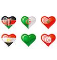 Flags heart vector