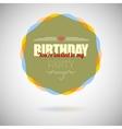 Birthday party invitation card design template vector