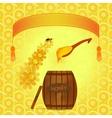 Barrel of honey vector