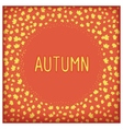 Abstract autumn frame vector