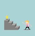 Businessman climbing the ladder of idea vector