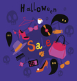 Halloween sale print vector