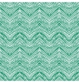 Emerald green hand drawn zigzag pattern vector