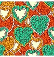 Seamless pattern with doodle hearts vector