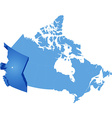 Map of canada - british columbia province vector