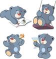 A set of bears cartoon vector