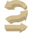 Wooden arrows vector