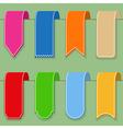Flat ribbons vector
