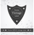 Black shield label with retro vintage styled vector