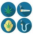 Cannabis icons vector