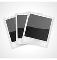 Shiny polaroid frames vector