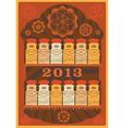 Yoga spices calendar 2013 vector