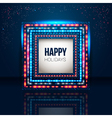 Universal holiday frame made of lights vector