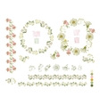 Collection of hand drawn flowers elements for vector