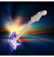 Abstract music background with electric guitar and vector