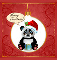 Panda christmas card vector