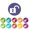 Lock web flat icon vector