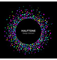 Colorful bright abstract halftone logo vector