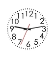 Round clock face with arabic numerals vector
