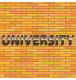 Universiry sign vector