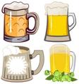 Set of beer mugs vector