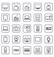 Electronic contour icons vector