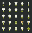 Lamp and light bulb concept icon set vector