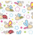 Pattern with insects vector