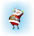 Santa claus holding a candy vector