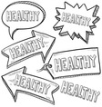 Doodle label tag healthy vector