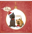 Cairn christmas card vector