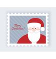 Santa postmark vector
